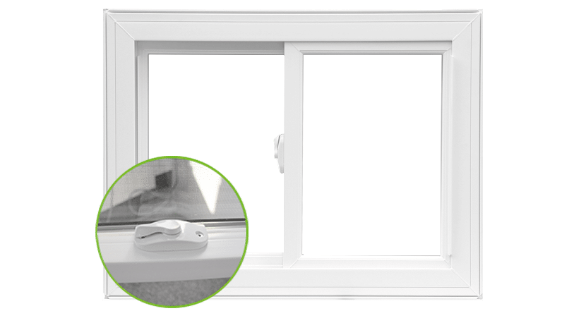 Slider Windows | action locks | Weaver Exterior Remodeling Barrie