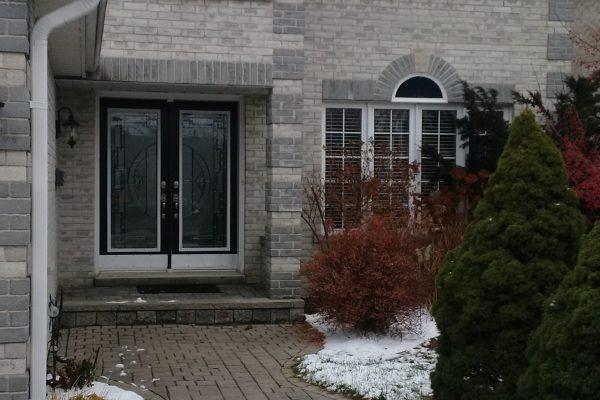 3 windows and door