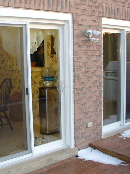 Photo of newly installed sliding doors