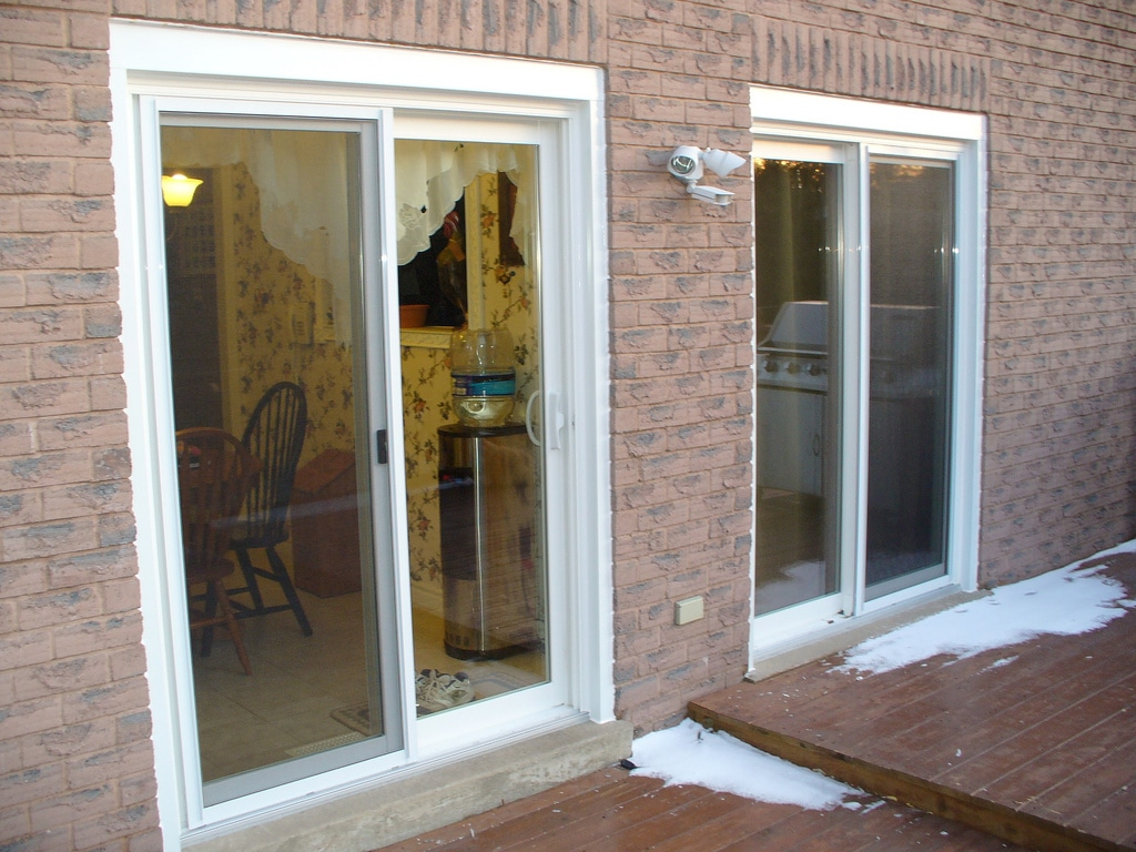Photo of newly installed sliding doors