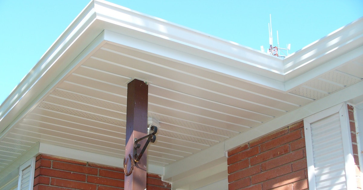 After photo of soffit and fascia repair
