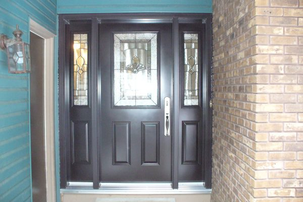 Photo of new bold black entry door