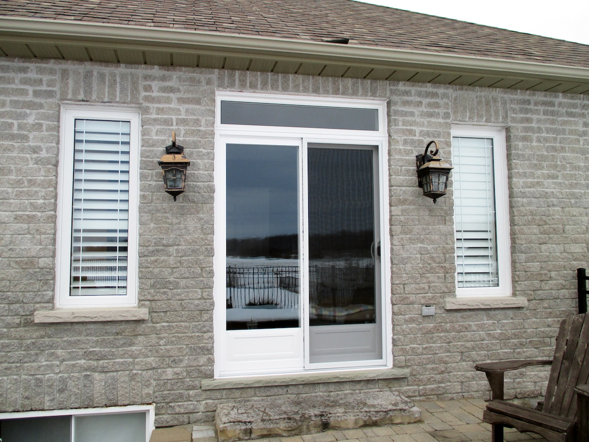 Decorative Patio Door & Transom Installation | patiodoor resized | Weaver Exterior Remodeling Barrie