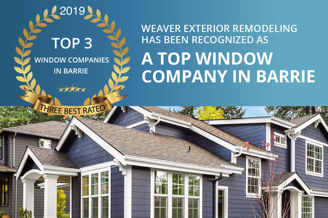 Weaver Exterior Remodeling Announced as Top Window Company in Barrie | Weaver Top3Award BlogImg | Weaver Exterior Remodeling Barrie