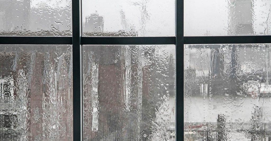 graphic of rain through a window