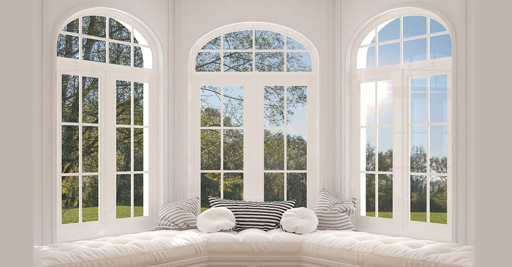 image of bay windows