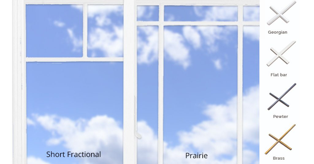 image of different styles of window grille
