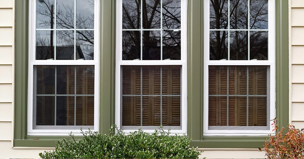 image of single-hung windows
