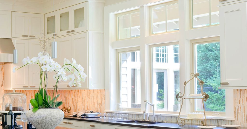 image of casement windows inside kitchen