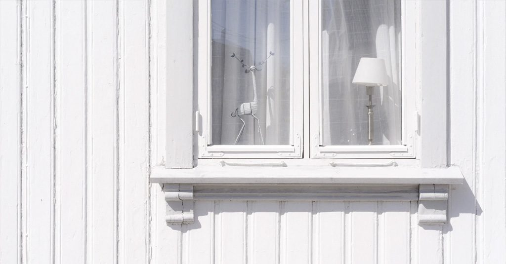 image of white wooden window frame