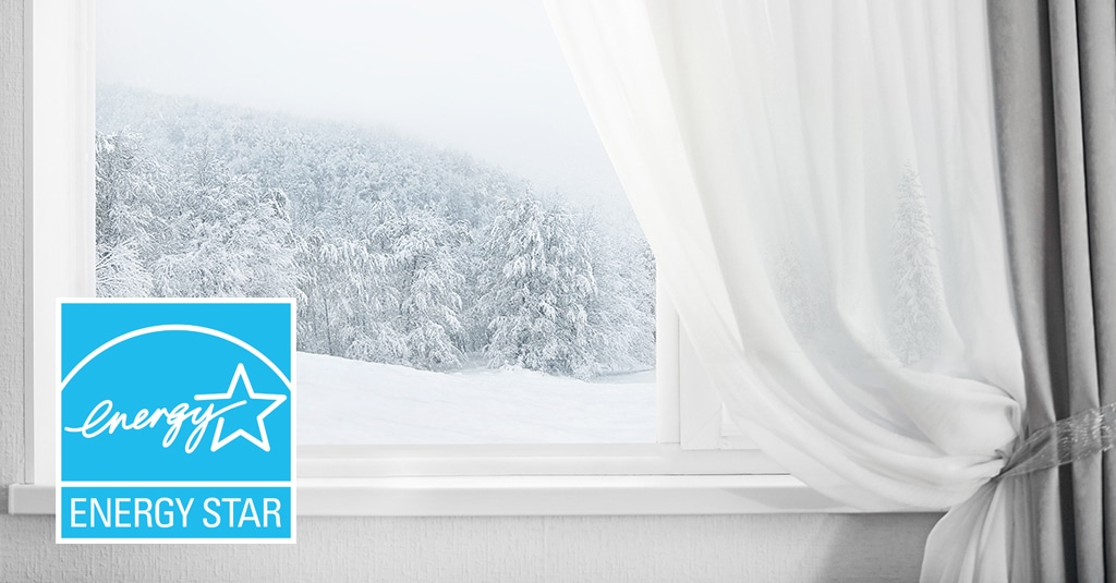 image of winter window with energy star