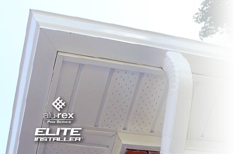 seamless eavestrough installation - alu-rex pro series - elite installer