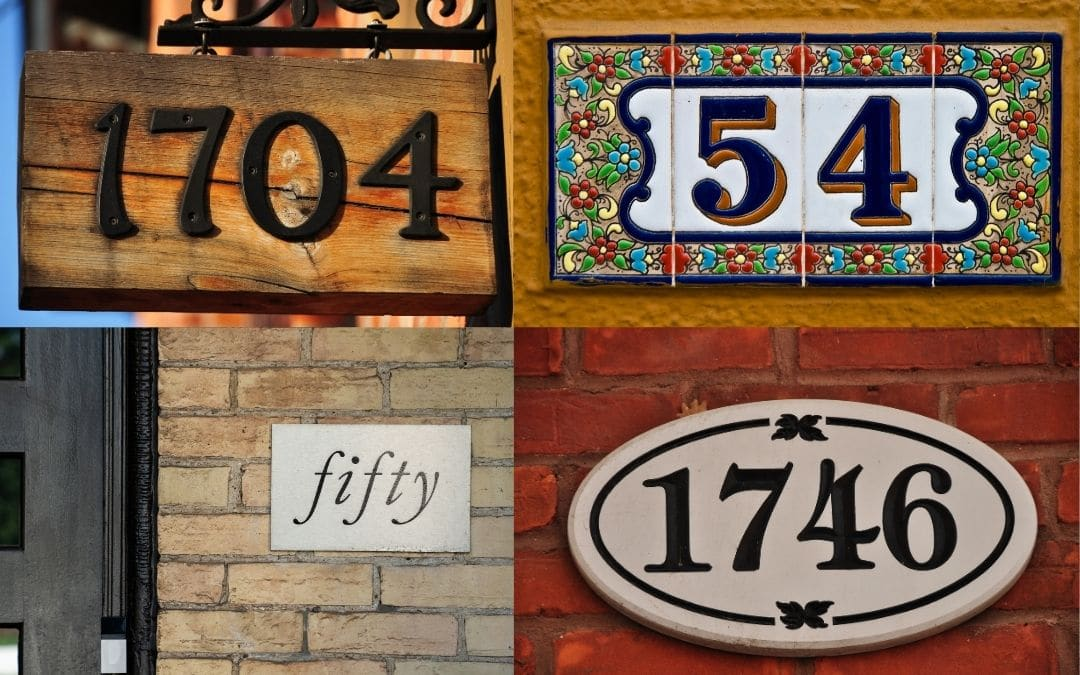 curb-appeal-with-creative-address-numbers-Weaver-Exterior