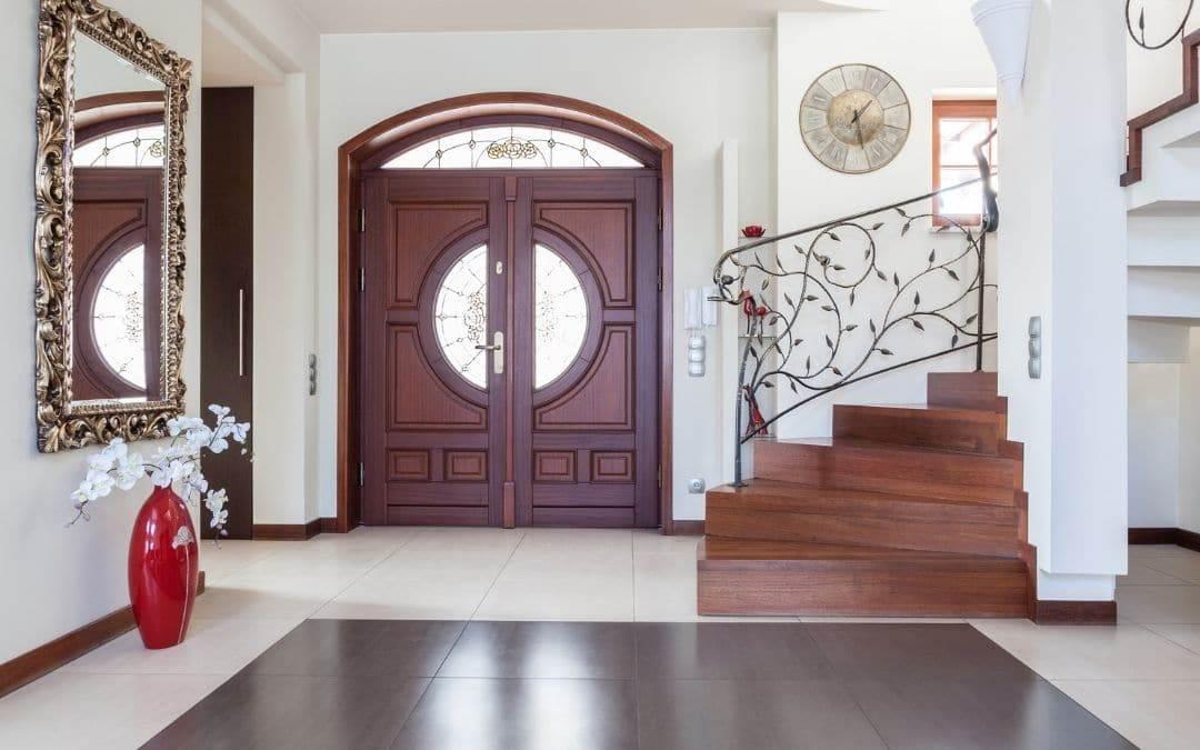 new entry door improves inner foyer