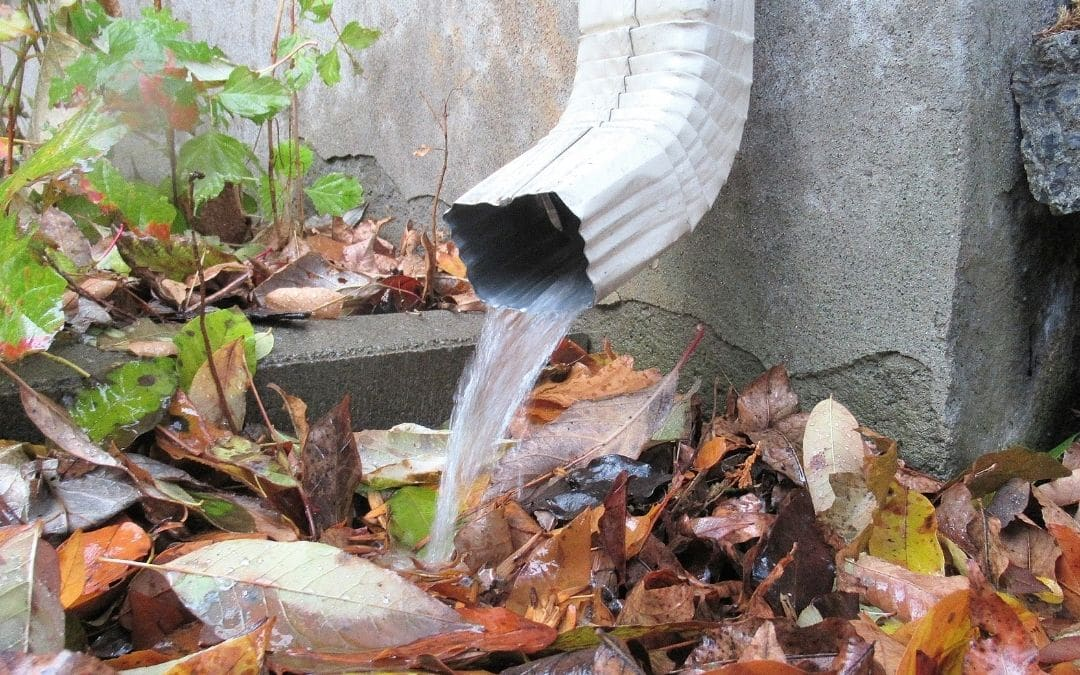 washed-away-landscaping-from-damaged-eavestroughs-Weaver-Exterior